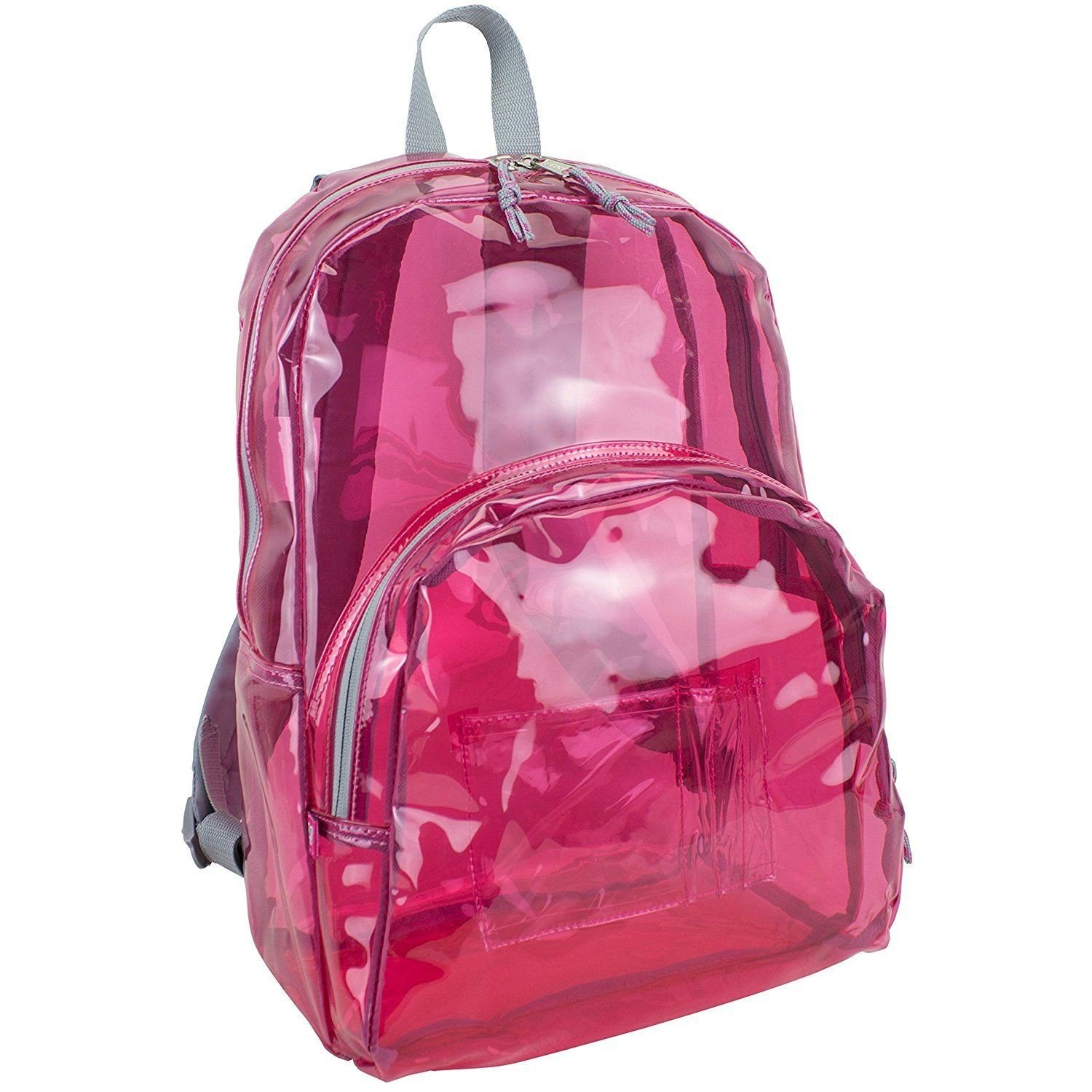 17'' Clear Pink Wholesale Backpack - Case of 24 by Eastsport (Image #2)