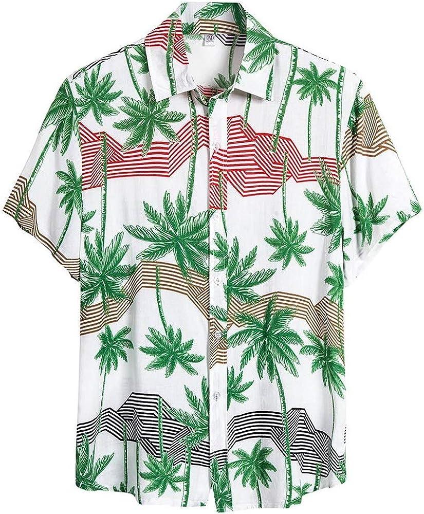 Nueva Camisa Hawaiana Hombre Camiseta de Flores Camisas Estampada Unisex Verano Moda Shirt Casual Negocio Manga Corta Top con Estampado Hawaiano Verde 305: Amazon.es: Ropa y accesorios