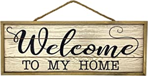 S.T.C. Home Decor Sign Wooden Rustic Scrolled Wall Hanging Desk Shelf Room Art 18.5