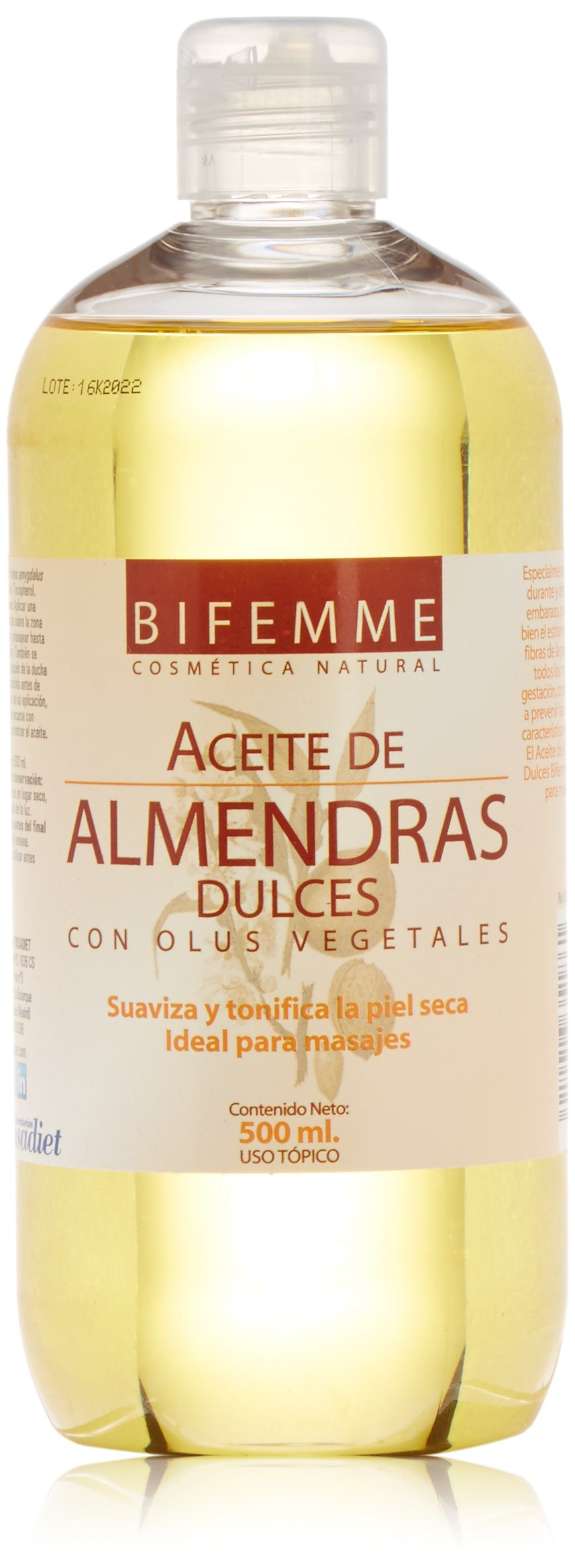 Bifemme Aceite almendras dulces - 500 ml product image