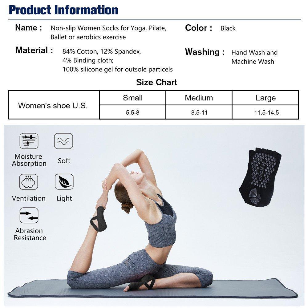 Amazon Hylaea Yoga Socks For Women With Grip Non Slip Toeless Half Toe Ballet Pilates Barre Combed Cotton Sports Outdoors