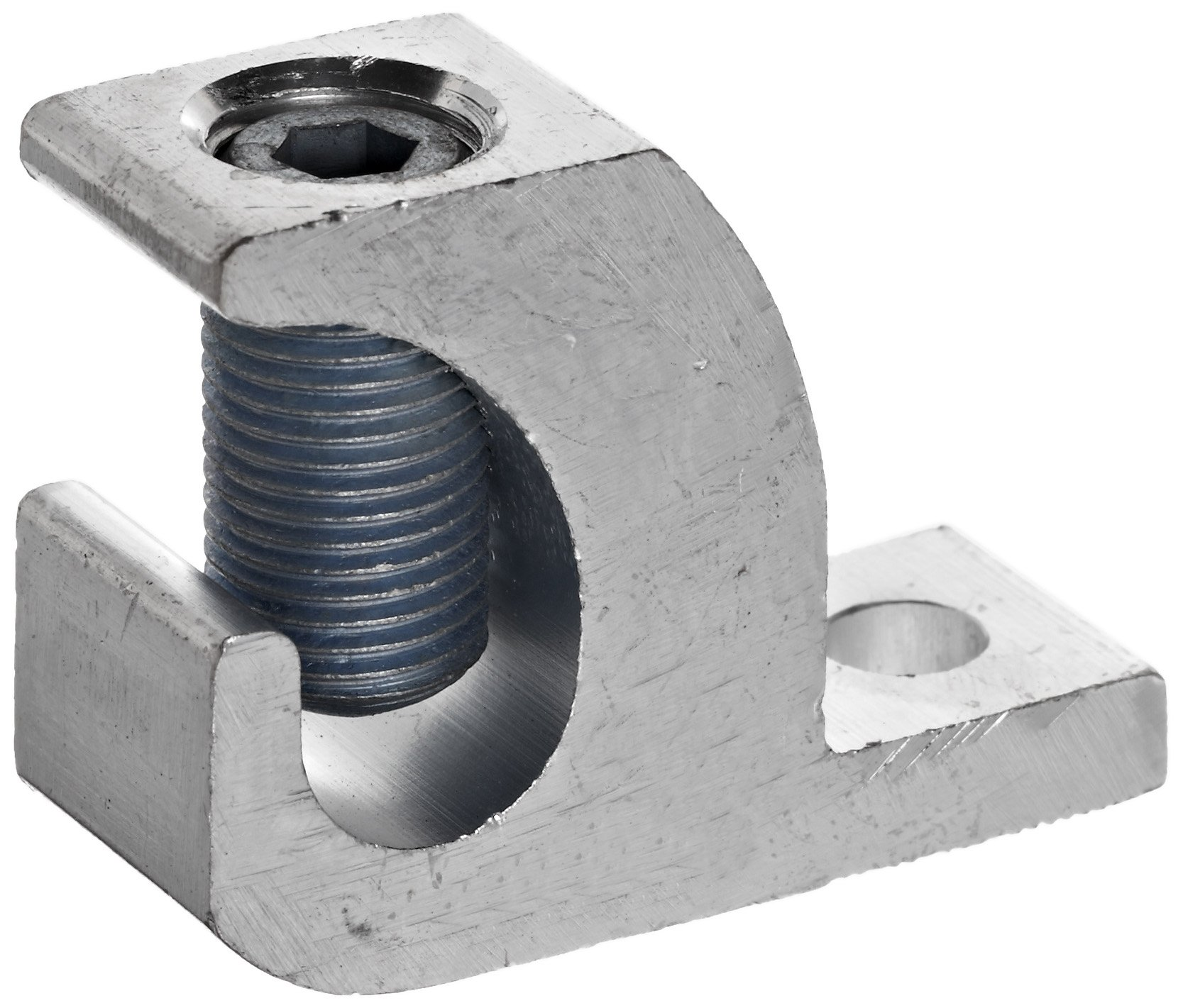 Morris Products 90580 Lay In Connector, Aluminum, Used With Copper and Aluminum Conductors, 250 - 6 Wire Range, 2.20'' Length, 0.80'' Width, 1.79'' Height, 0.33'' Bolt Size