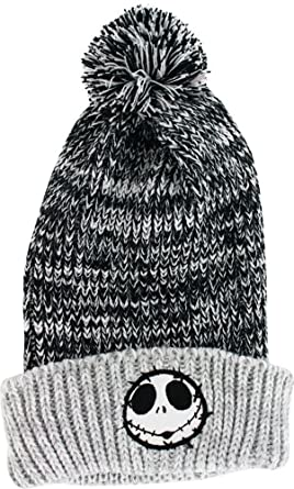 8c85bc5ffa975 Image Unavailable. Image not available for. Color  Nightmare Before  Christmas Jack Skellington Toque Knit Beanie ...