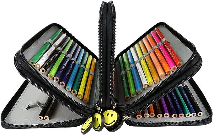 Wimi estuche escolar de lápiz con 72 Agujeros estuche escolar Bon Gadget para dibujo: Amazon.es: Oficina y papelería