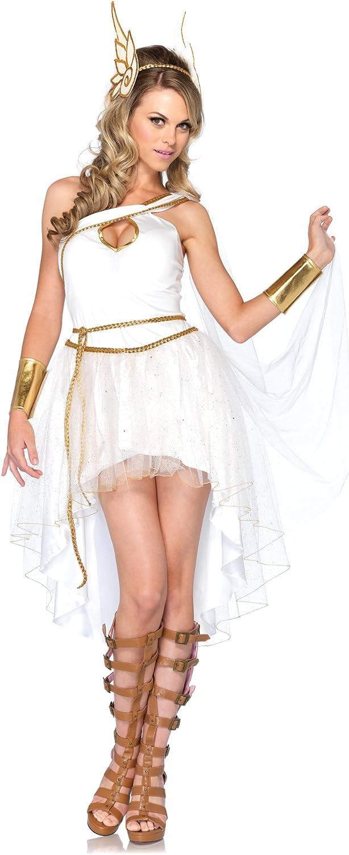 Amazon Com Leg Avenue Costumes 3pc Goddess Hermes Dress Wrist Cuffs And Head Piece Clothing