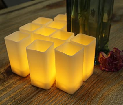 Strange Warm White Flicker Square Led Candles Pillar For Christmas Holiday Decor Plastic Flameless Battery Operated Pretty Lights Table Centerpieces Wedding Home Interior And Landscaping Analalmasignezvosmurscom
