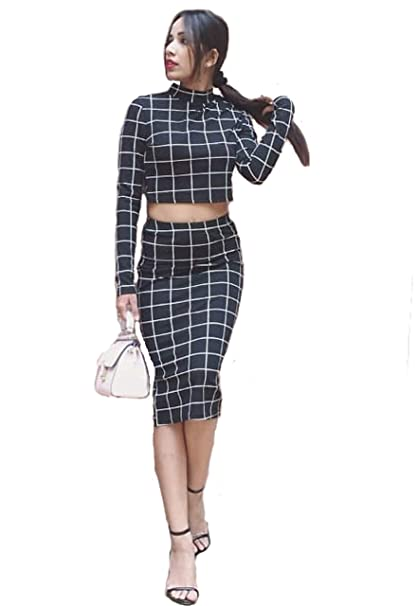8125d4c823f4b0 Shopping Mela Crop Top with Skirt Stylish and Attractive Women Western  Wear  Amazon.in  Clothing   Accessories