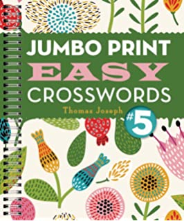 graphic about Thomas Joseph Printable Crosswords known as Jumbo Print Uncomplicated Crosswords #1 (Substantial Print Crosswords