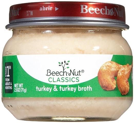 Beech Nut Stage 1 Meats Turkey Broth 25 Oz 10 Pk Amazon