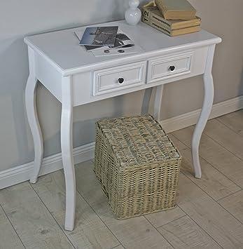 Beistelltisch mit schubladen  Konsolentisch Holz Tisch Schubladen weiß Landhaus Anrichte ...