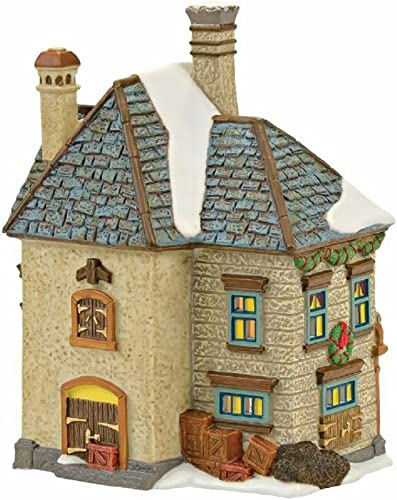 Department 56 Dickens Village Swan and Trumpet Lit House