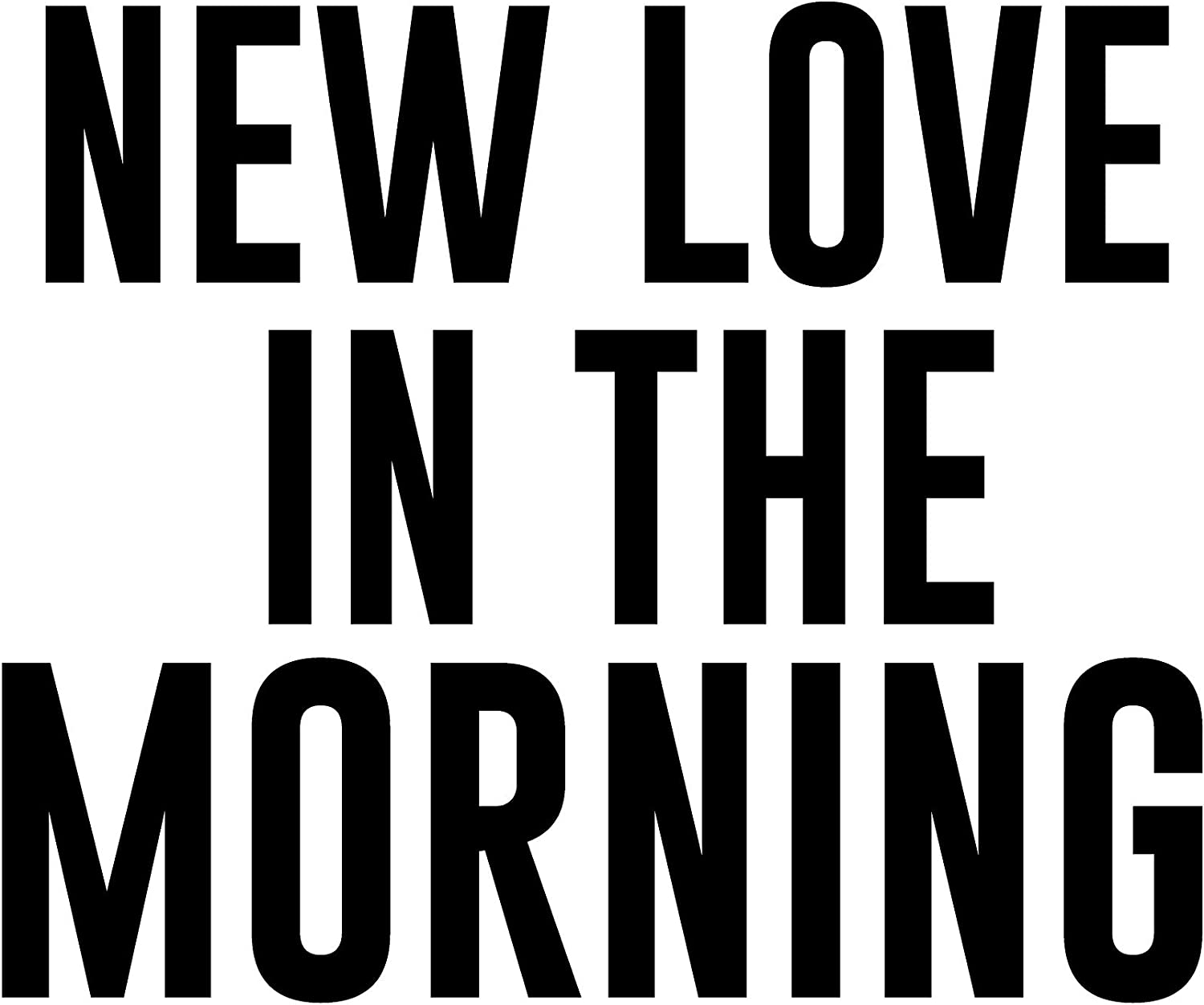 New Love in The Morning Womens Boyfriend Fit Tee