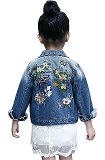 ec70f4ec0a18 Amazon.com  keemella Baby Girl s Denim Jacket With Rose Flower ...