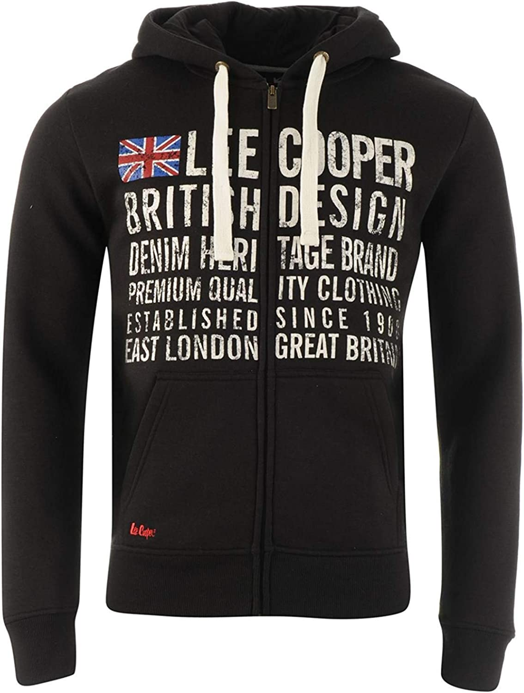 Lee Cooper Bright Zip Hoodie Youngster Boys Hoody Hooded Top Full Length Sleeve