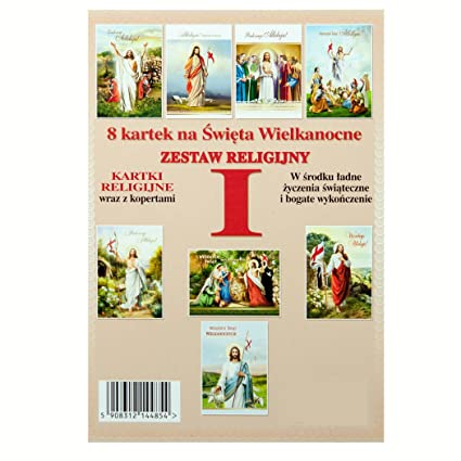 Amazon traditional religious easter polish greeting cards with traditional religious easter polish greeting cards with colorful envelopes set of 8 m4hsunfo