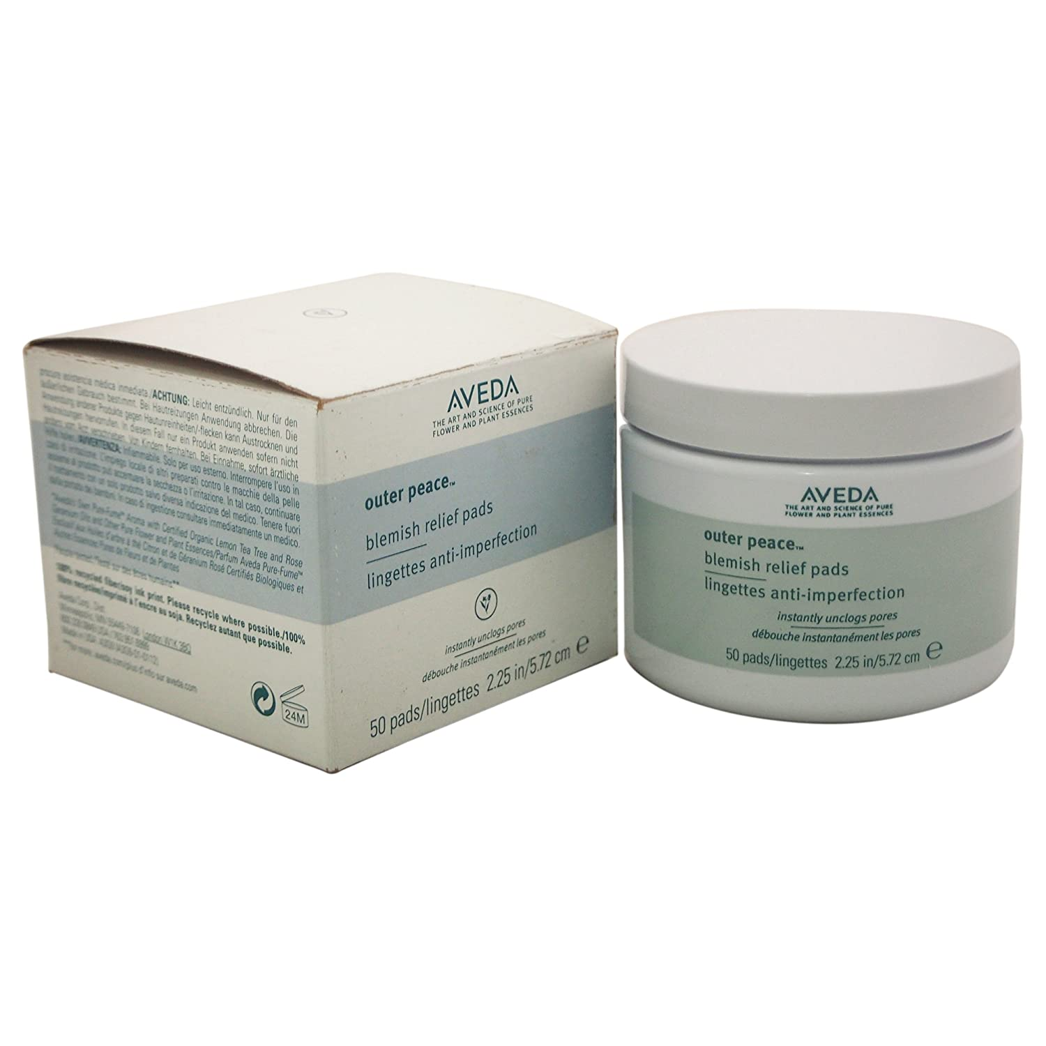 Aveda Outer Peace Exfoliating Pads, 50 pads TRTAZ11A