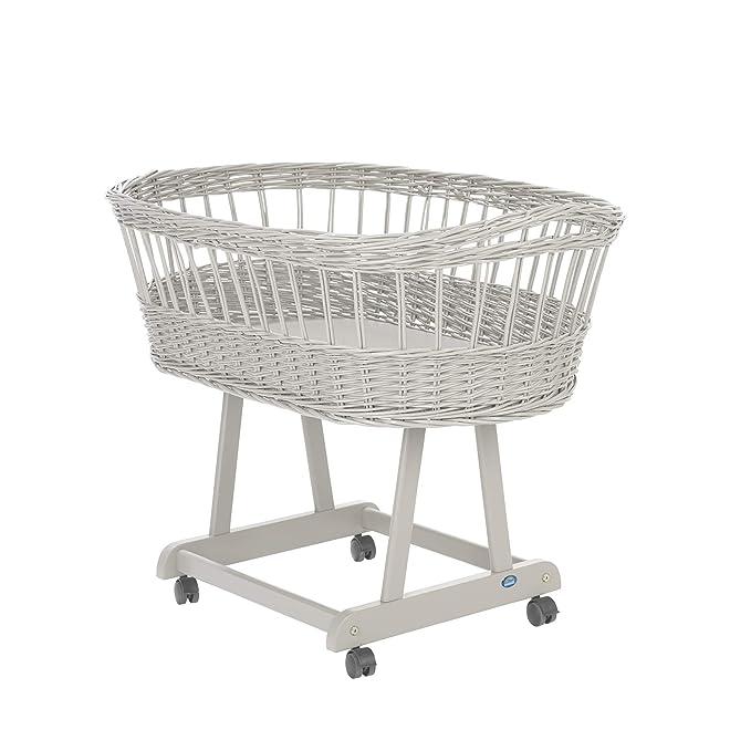 Alvi 74090 Birthe - Cuna con ruedas (80 x 46 cm), color gris: Amazon.es: Bebé