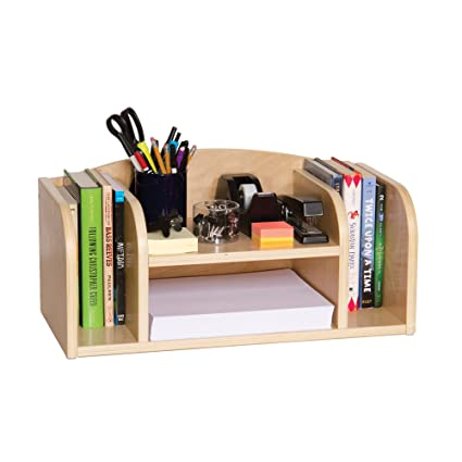 Guidecraft Low Desk Organizer Set   Book And Folder Storage Unit, Office  And School Supplies