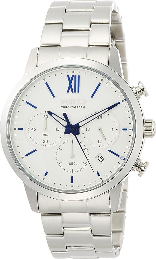 [セイコーウォッチ] 腕時計 ワイアード 祝成人限定700本 クロノグラフ スワロフスキー入り白文字盤 AGAT722 メンズ シルバー