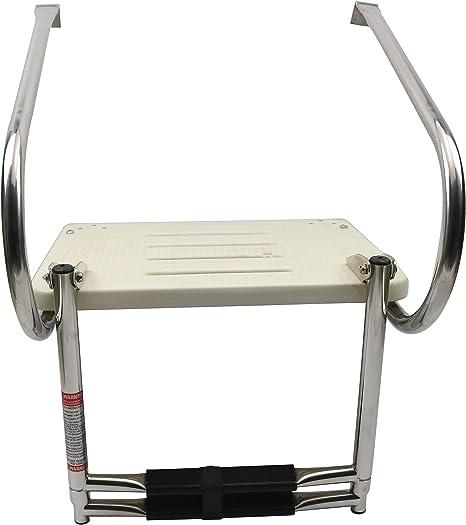 East Kay - Plataforma de baño de Fibra de Vidrio con Escalera telescópica de 2 Pasos: Amazon.es: Deportes y aire libre