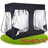 "JAXPETY 96""x48""x78"" Indoor Grow Tent Room Reflective Mylar Hydroponic Non Toxic Hut New"