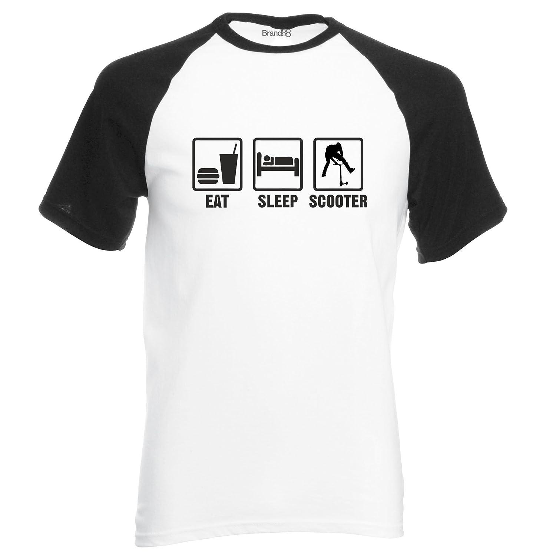 Brand88 Eat Sleep Scooter S//S Baseball Tee