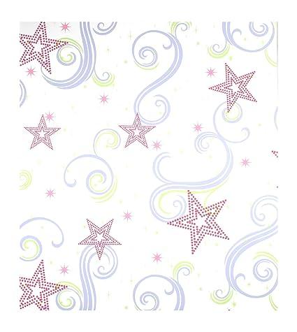 RAINBOW UNICORN PINK GIRLS WHITE GLITTER CHILDRENS WALLPAPER ARTHOUSE 696108