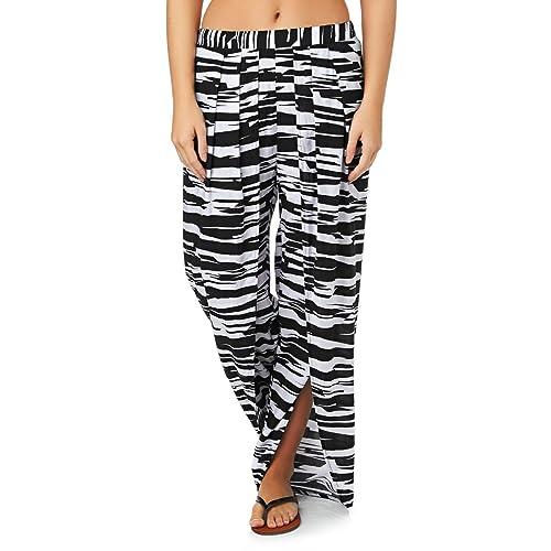 Pantalon Seafolly Peek a Boo Pant Noir et Blanc