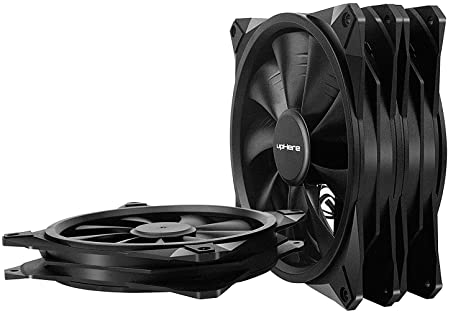 upHere Parent Ventilador (RGB 123, F03, 15LED) 3x noir 140mm ...
