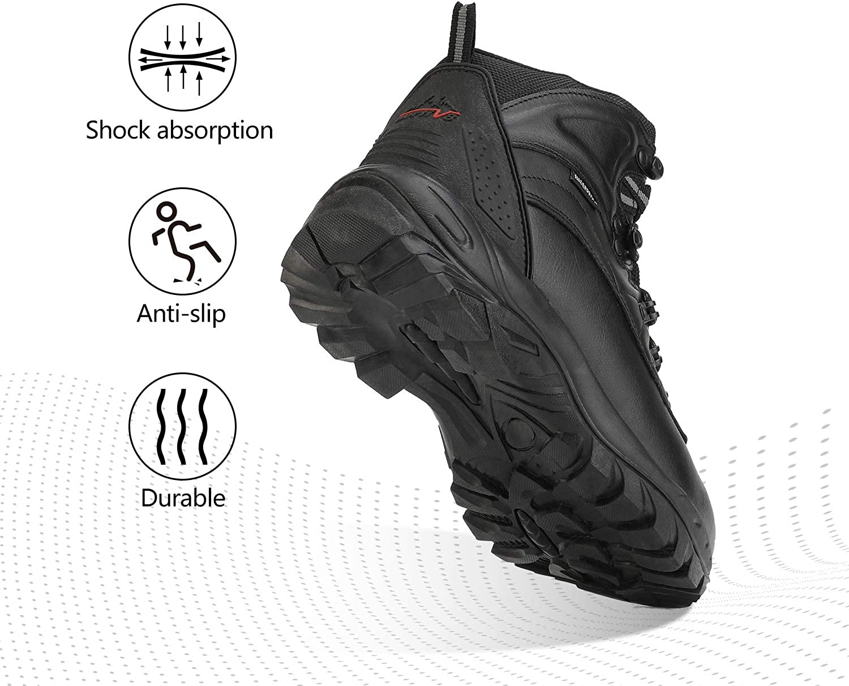 NORTIV 8 Hombre Botas de Senderismo Botas de Nieve Invierno Impermeable Calzado Zapatos Aire Libre Deportes Antideslizantes C/álido Confortables