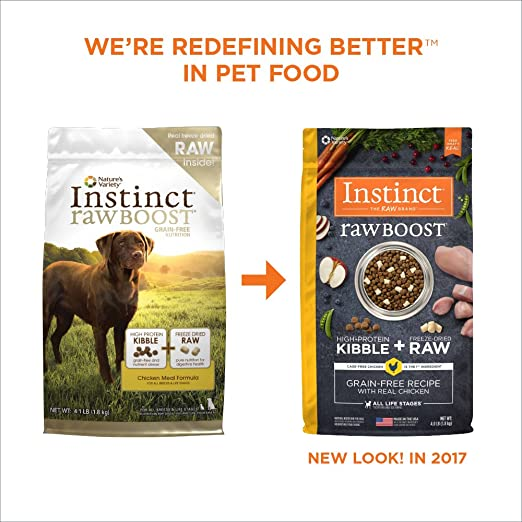 Amazoncom Instinct Raw Boost Grain Free Chicken Meal Formula