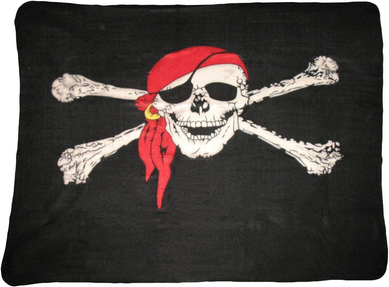 Wholesale Pirate Skull Cutlass 50x60 Polar Fleece Blanket Throw Plush 2