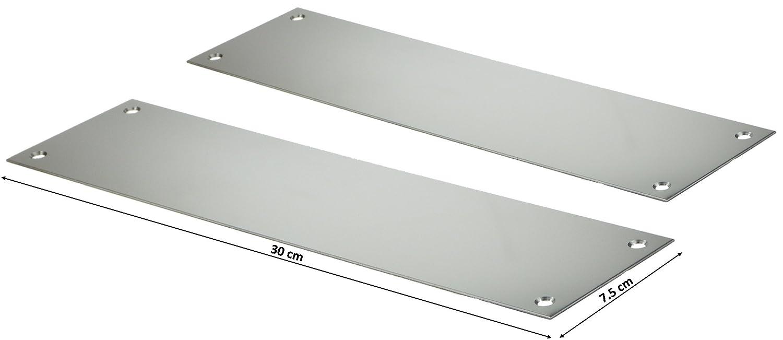 2 X Stainless Steel Slim Fingerplate Finger Door Plate Pull Push Entert - 30 cm ogb
