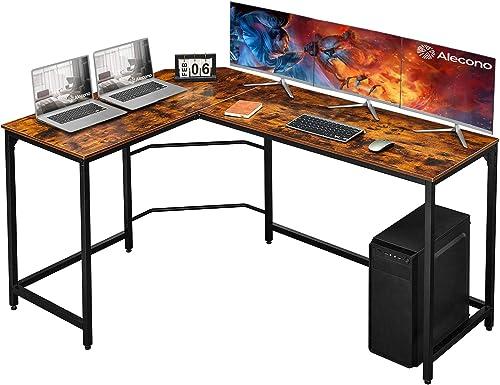 Alecono Larger L Shaped Desk Corner Desk 62 inch Corner Gaming Desk