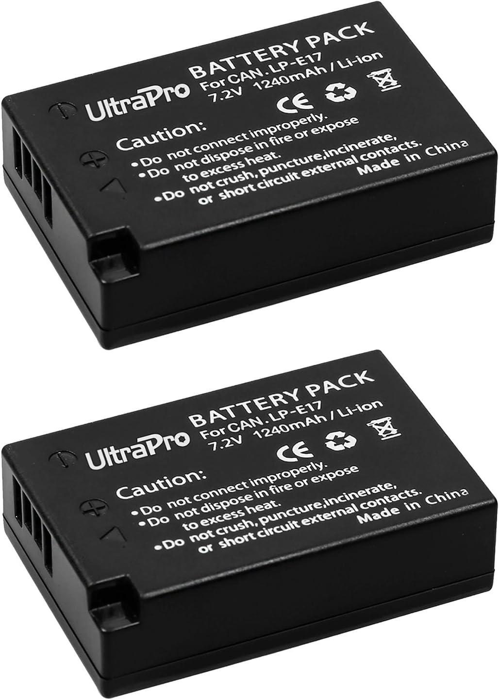2-Pk LP-E17 Long-Life Batteries Rapid Dual Charger UltraPro Accessory Bundle EOS 77D EOS 800D: Includes Replacement Grip Battery Grip Bundle F//Canon Rebel T7i
