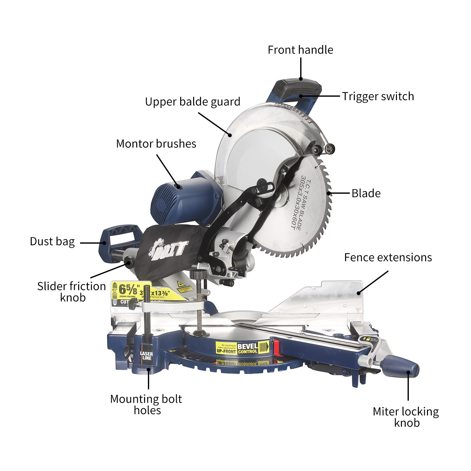 Doitpower 12-Inch Dual Bevel Miter Saw (Sliding Compound) with Laser and LED Review 2