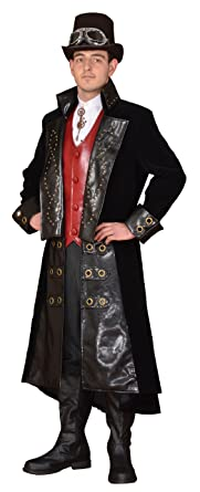ad72db3db Amazon.com: Deluxe Men's Steampunk Costume- Theatrical Quality: Clothing