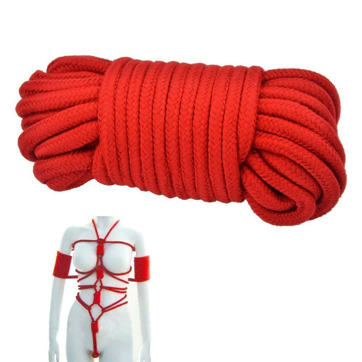 SWISH Soft Cotton Rope-32 Feet Length//10m,64-foot 20m Durable Utility Long Rope
