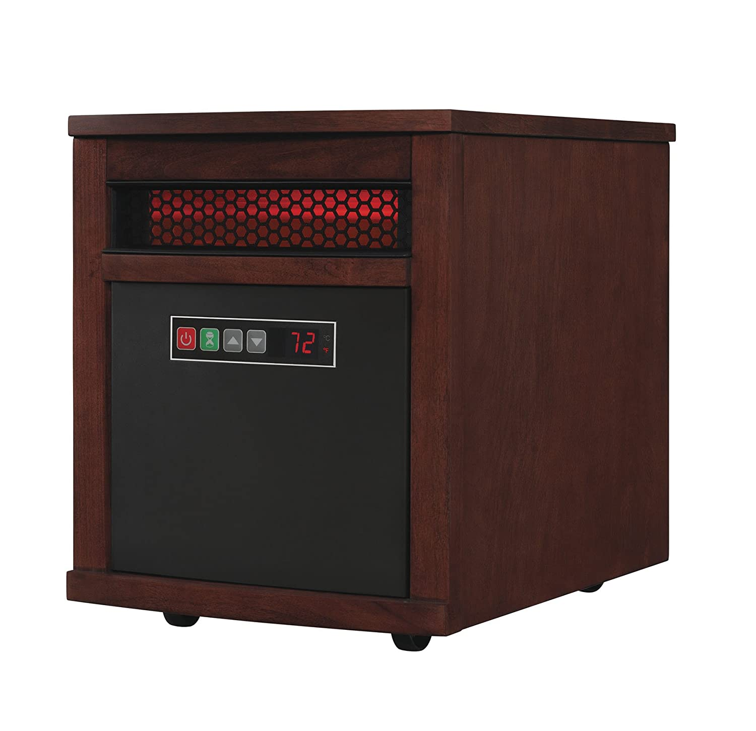 Quartz Infrared Portable Space Heater in Cherry