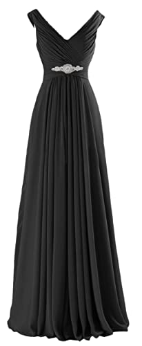 CaliaDress Women A Line Ruffles Long Prom Formal Gowns Bridesmaid Dress C160LF