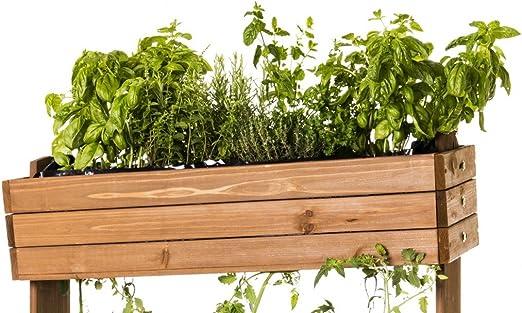 Bancal Madera Macetero mesa Beet hierbas Valla de tomates pérgola ...