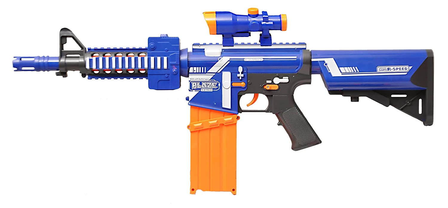 Toy Nerf N strike Sniper Rifle Nerf Gun Bullet Toy Gun Electric A Running  Fire Soft