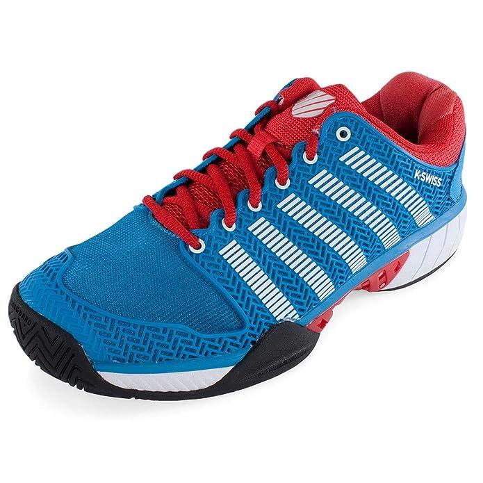 K-Swiss Hypercourt express - Zapatillas Tenis/Padel (Methly blue/Fiery red) - 42: Amazon.es: Zapatos y complementos