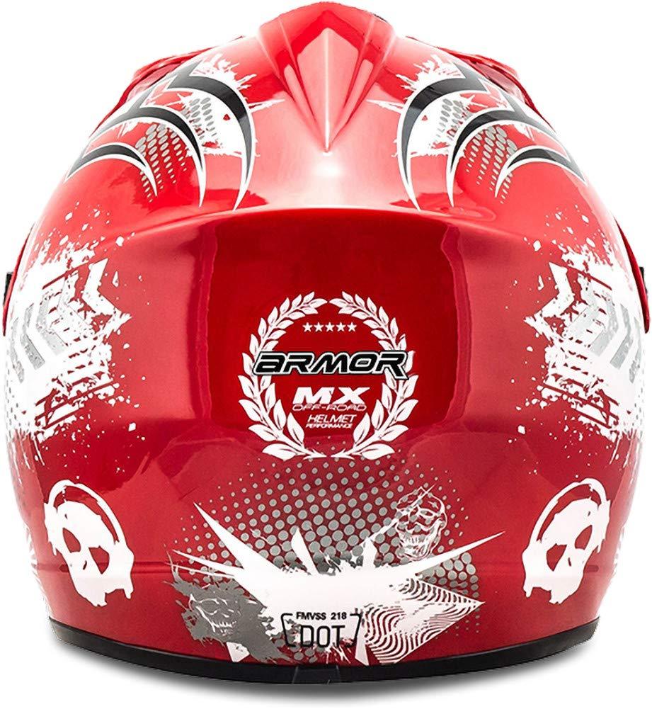 "53-54cm /· Casco Moto-Cross /· Racing motocicleta Off-Road NINOS Scooter Quad Enduro /· DOT certificado /· Click-n-Secure/™ Clip /· Bolsa de transporte /· S yellow Armor /· AKC-49 /""Yellow/"""