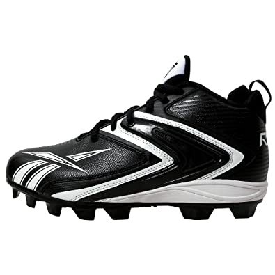 Reebok Men's NFL Ferocious M12 Football Cleat,Black/White,15 M