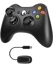 JAMSWALL - Mando inalámbrico para Xbox 360, 2.4 G negro mate matte black