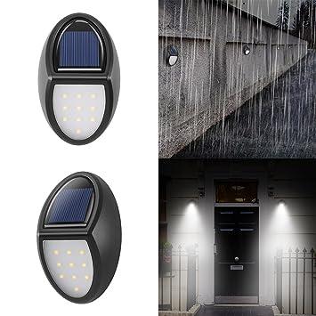 Lumières De Clôture Solaire Lampe De Mur Décoratif Konesky