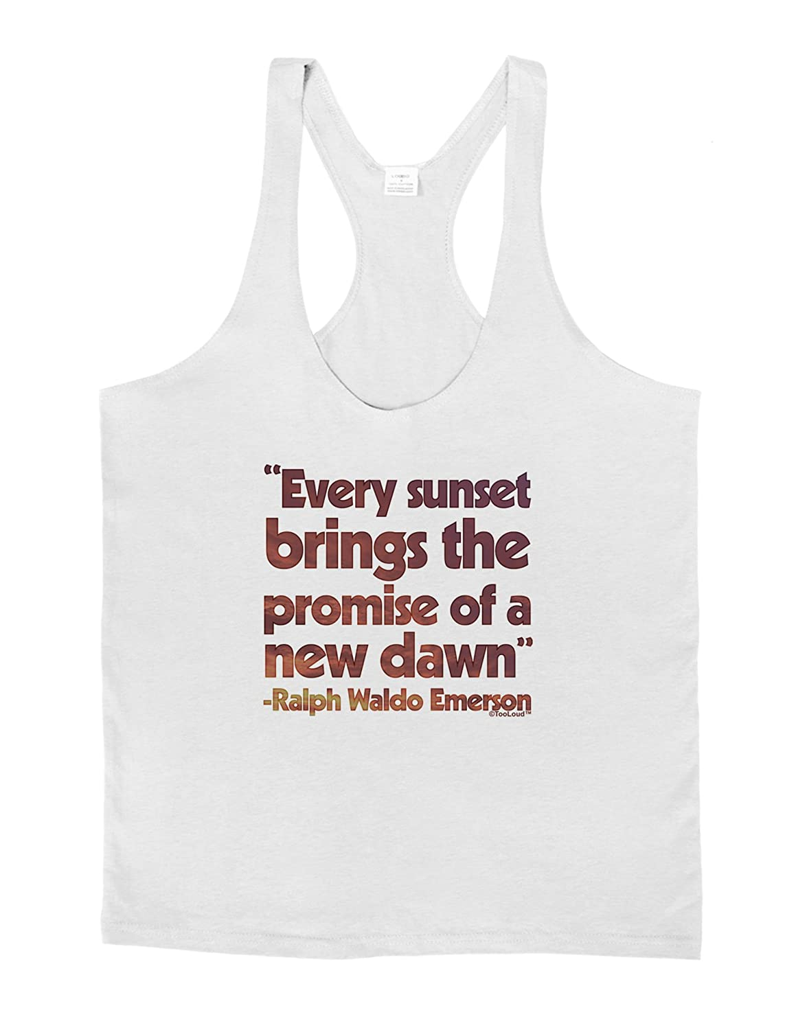 LOBBO TooLoud Emerson Sunset Quote Mens String Tank Top