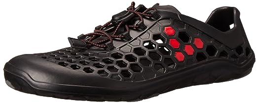 Vivobarefoot Men's Ultra II Water Shoe,BLACK/RED, 40 EU/7.5-