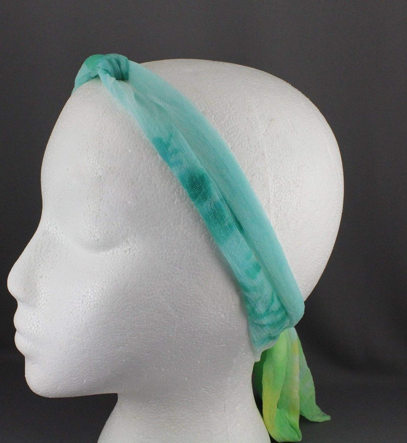 New constrained tie wrapped wire wrap turban headdress eye opening
